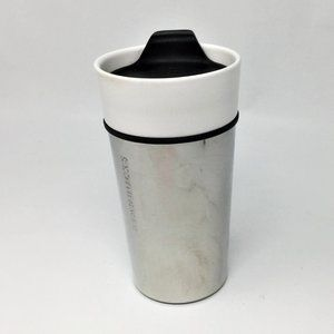 Starbucks Chrome & Ceramic Travel Tumbler 12oz